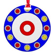 Curling Clock 8x8 Ornament