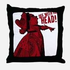 off-with-her-head-vintage_dark Throw Pillow