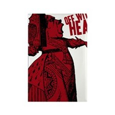 off-with-her-head-vintage_dark Rectangle Magnet