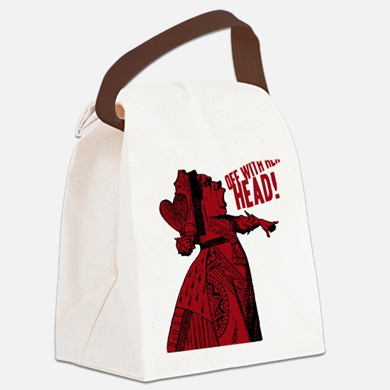 off-with-her-head-vintage_dark Canvas Lunch Bag