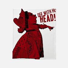 off-with-her-head-vintage_dark Throw Blanket