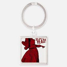 off-with-her-head-vintage_dark Square Keychain