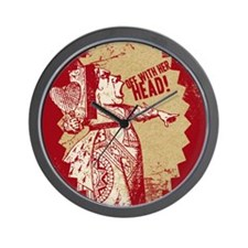 off-with-her-head-vintage_13-5x18 Wall Clock