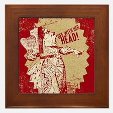 off-with-her-head-vintage_13-5x18 Framed Tile