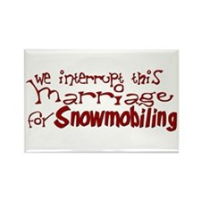 We Interrupt this marriage... Rectangle Magnet