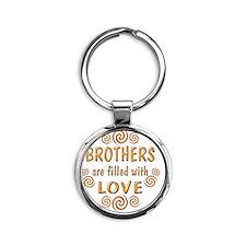 2-1brother Round Keychain