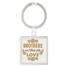 2-1brother Square Keychain