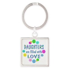 loveDaughters Square Keychain