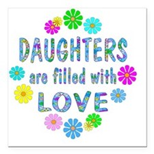 "loveDaughters Square Car Magnet 3"" x 3"""