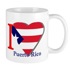 I love Puerto Rico falg Mug