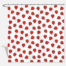 Strawberries #2, Shower Curtain