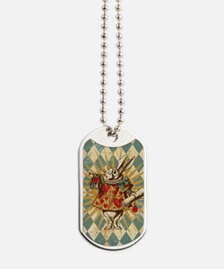 white-rabbit-vintage_12x18 Dog Tags