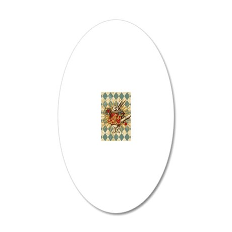 white-rabbit-vintage_13-5x18 20x12 Oval Wall Decal