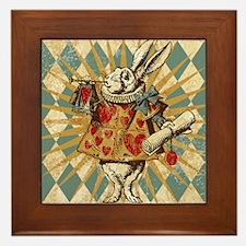 white-rabbit-vintage_13-5x18 Framed Tile