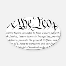 U.S.-Constitution-(white-shirt) Oval Car Magnet