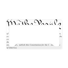 U.S.-Constitution-(white-shir License Plate Holder