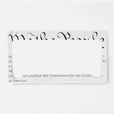 U.S.-Constitution-(white-shir License Plate Holder