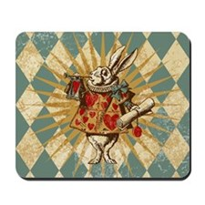 White Rabbit Vintage Mousepad
