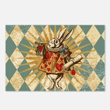 White Rabbit Vintage Postcards (Package of 8)