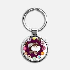 Furry Dough Round Keychain