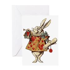 white-rabbit-vintage_tr Greeting Card