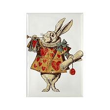 white-rabbit-vintage_tr Rectangle Magnet