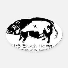 The Black Hogg Oval Car Magnet
