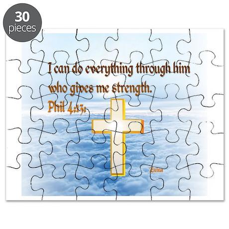Faith Cross, Bible Verse Puzzle