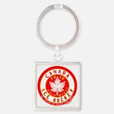 CA Hky10 Gold1 dk 5_H_F Square Keychain