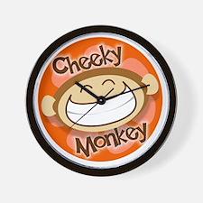 Cheeky Monkey Square Wall Clock