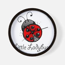 Ladybug -white Wall Clock