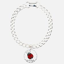 Ladybug -white Bracelet