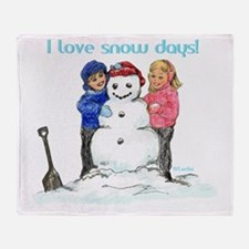 00-I-love-snowdaze-F-transp Throw Blanket