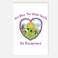 God Bless The Whole World Postcards (Package of 8)