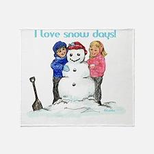 00-I-love-snowdaze-IJ Throw Blanket