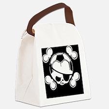 soccer-boy-skull-OV Canvas Lunch Bag