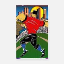 Baseball Pitcher Small Poster Rectangle Car Magnet