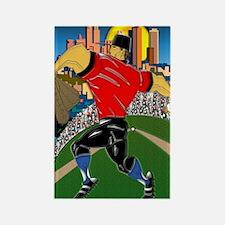 Baseball Pitcher Greeting Card 5  Rectangle Magnet