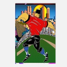 Baseball Pitcher Greeting Postcards (Package of 8)