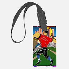 Baseball Pitcher Greeting Card 5 Luggage Tag
