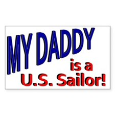 My Daddy is a US Sailor Decal