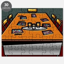 5-Boardroom Table Chairs Glasses Contracts  Puzzle