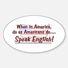 Do As Americans Oval Decal