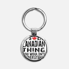 Canadian Thing -coaster Round Keychain
