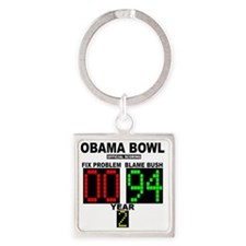 cp_obama_bowl_button Square Keychain