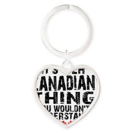 Canadian Button Heart Keychain