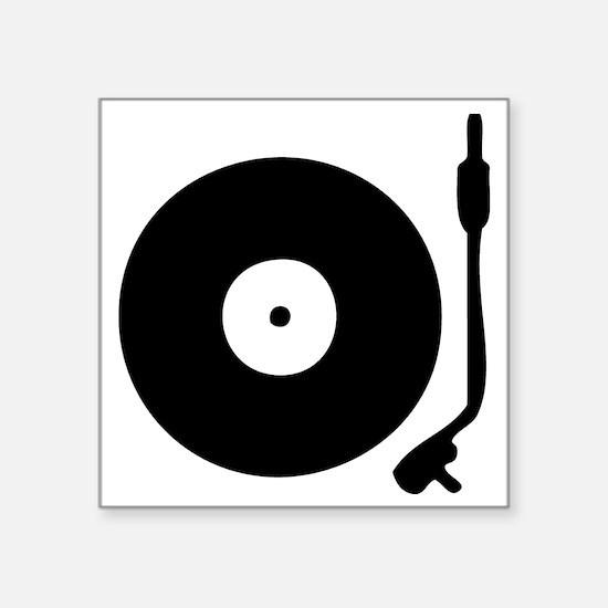 "Vinyl Record Turntable Square Sticker 3"" x 3"""