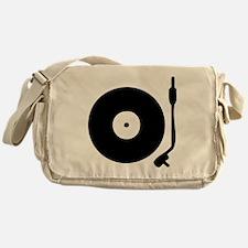 Vinyl Record Turntable Messenger Bag