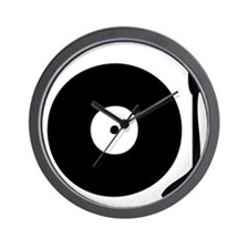 Vinyl Record Turntable Wall Clock