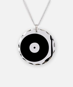 Vinyl Record Turntable Necklace